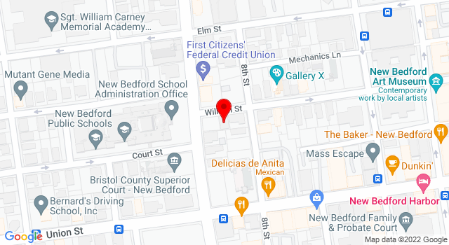 Google Map of 190 William Street New Bedford MA